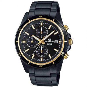 Casio Gent's EFR-526BK-1A9VUDF Edifice Black Ion Plated Bracelet Medium Watch