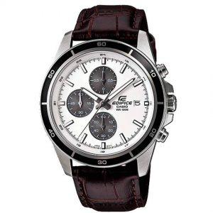 Casio Gents EFR-526L-7AVUDF Edifice Chronograph Brown Leather Medium Size Watch