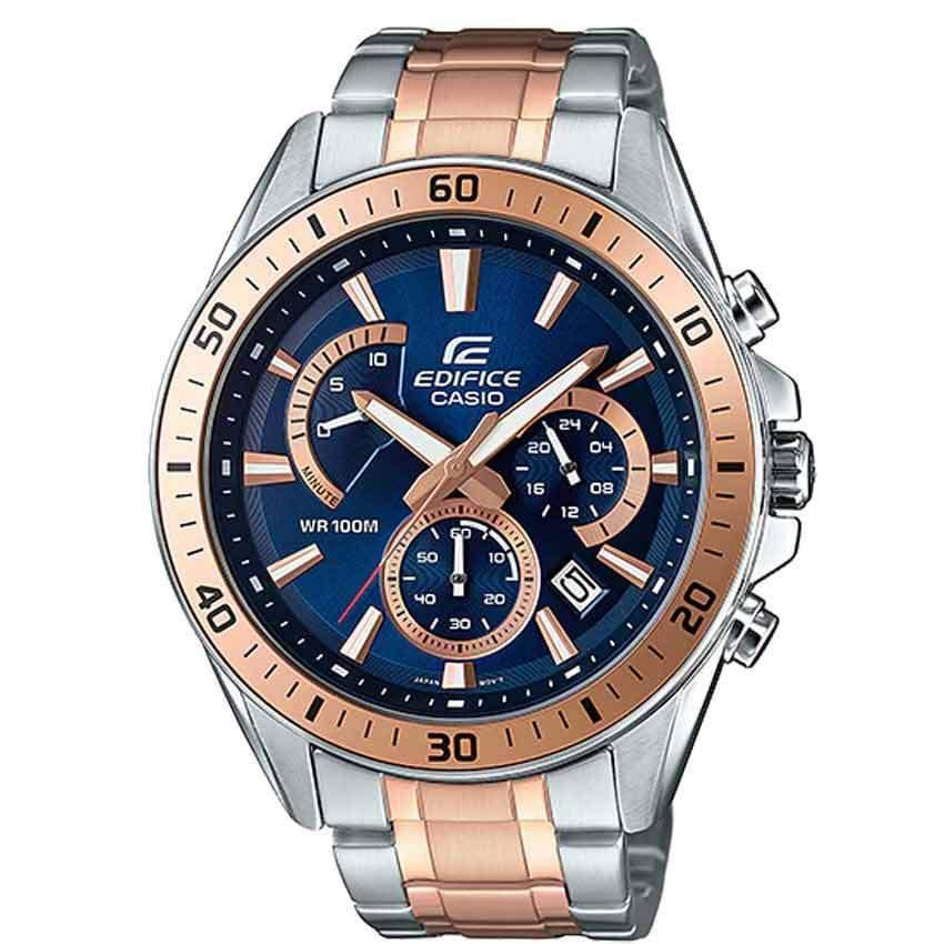 Casio Gents EFR-552SG-2AVUDF Edifice Chronograph Two-Tone Blue Dial Bracelet Watch