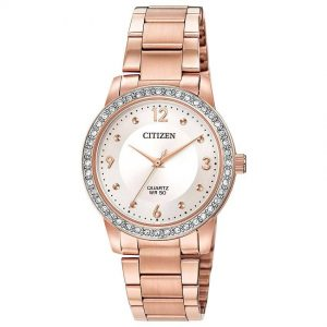 Citizen EL3093-83A Women's Quartz  Rose Gold Off-White Dial Watch