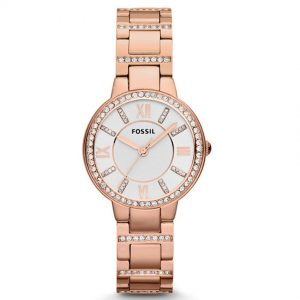 Fossil ES3284 Women's Virginia Rose Gold Bracelet Medium Watch