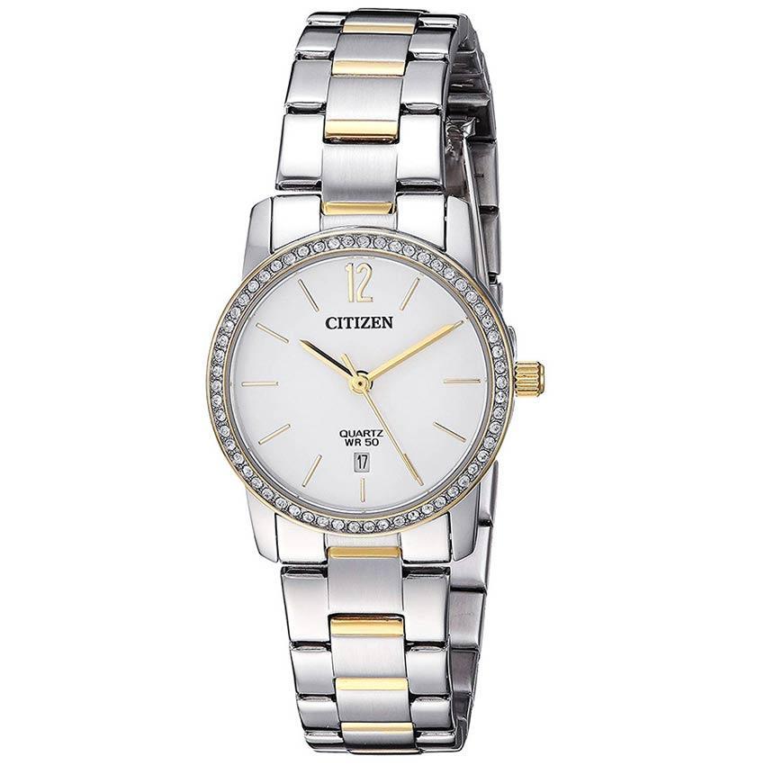 Citizen EU6038-89A Women's Swarovski Crystals Dual Tone Bracelet Watch