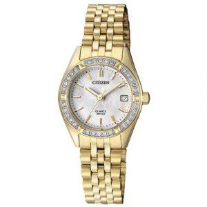 Citizen EU6062-50D Women's Swarovski MOP Gold Small Watch