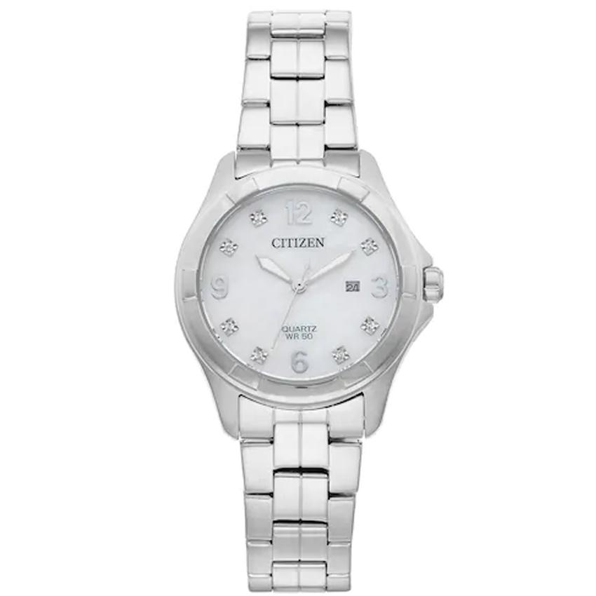 Citizen EU6080-58D Women's Crystal Stainless Steel Medium Watch