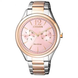 Citizen FD4026-81X Women's Eco-Drive Pink Dial Two Tone Bracelet Watch