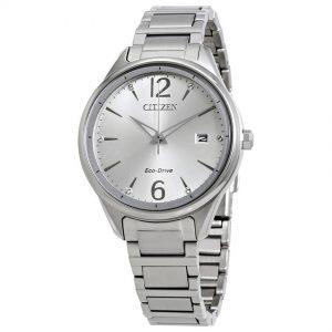 Citizen FE6100-59A Women's Chandler Eco-Drive Silver Dial Watch