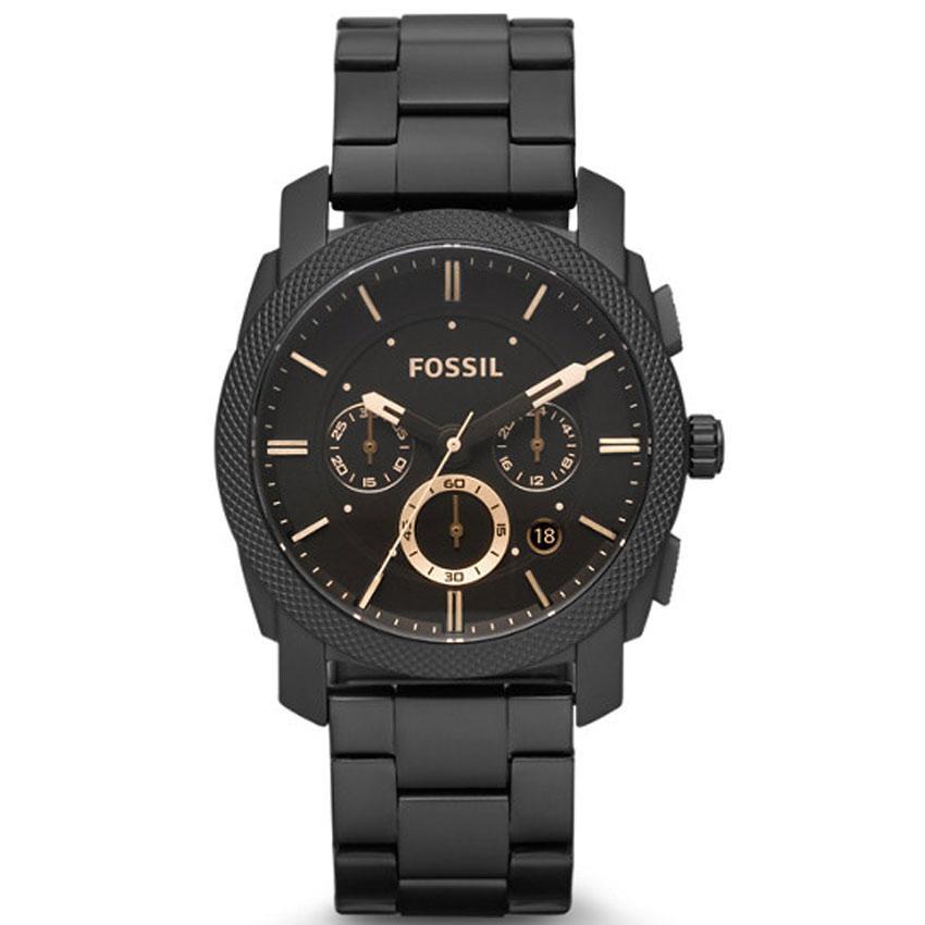Fossil FS4682 Men's Machine Chronograph Black Bracelet Watch