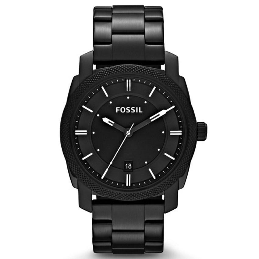 Fossil FS4775 Men's Machine Black Stainless Steel Bracelet Watch