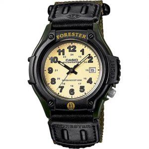 Casio FT500WC-3BV Men's Forester Analog Illuminator Green Cloth Band Small Size Watch