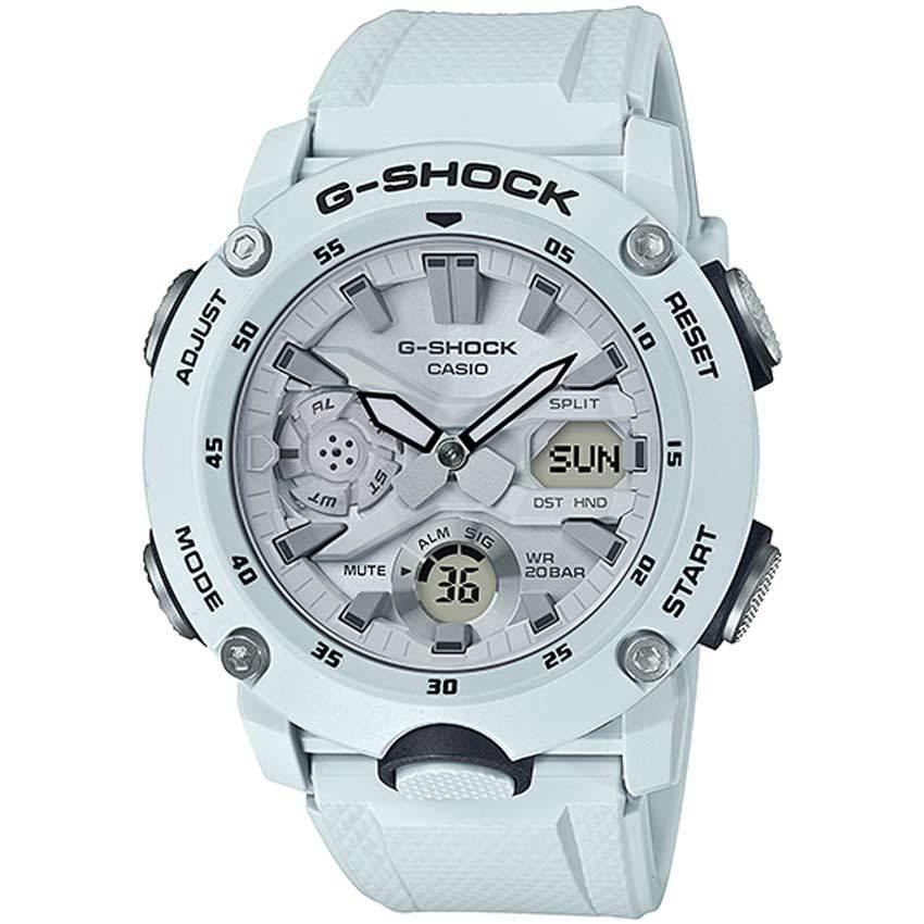 Casio Gent's GA-2000S-7ADR G-Shock Carbon Core Guard White Resin Watch