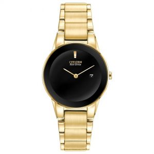 Citizen GA1052-55E Women's Axiom Black Dial Yellow Gold Watch
