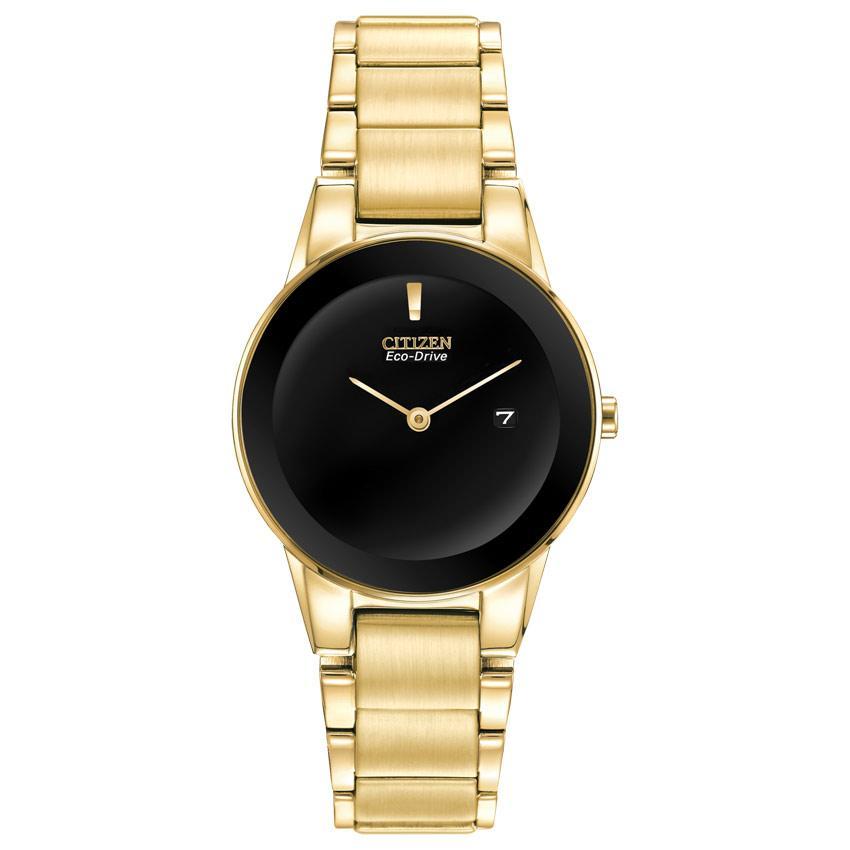 Citizen GA1052-55E Women's Axiom Black Dial Yellow Gold Watch