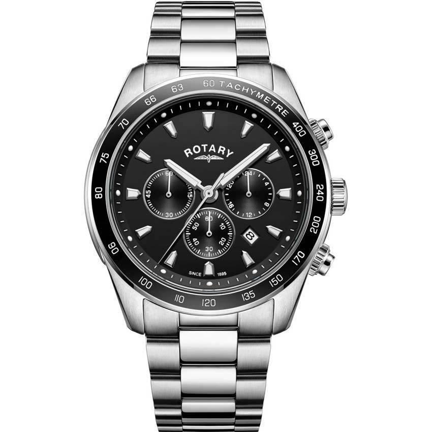 Rotary GB05109/04 Men's Black Henley Chronograph Quartz Watch