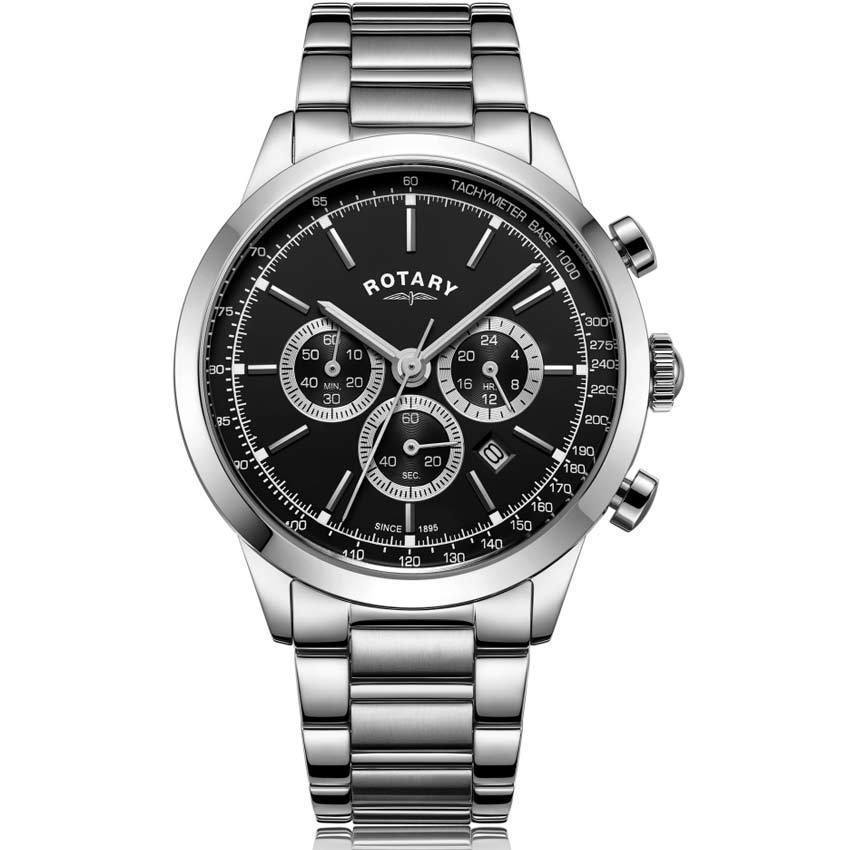 Rotary GB05253/04 Men's Cambridge Chronograph Stainless Steel Watch