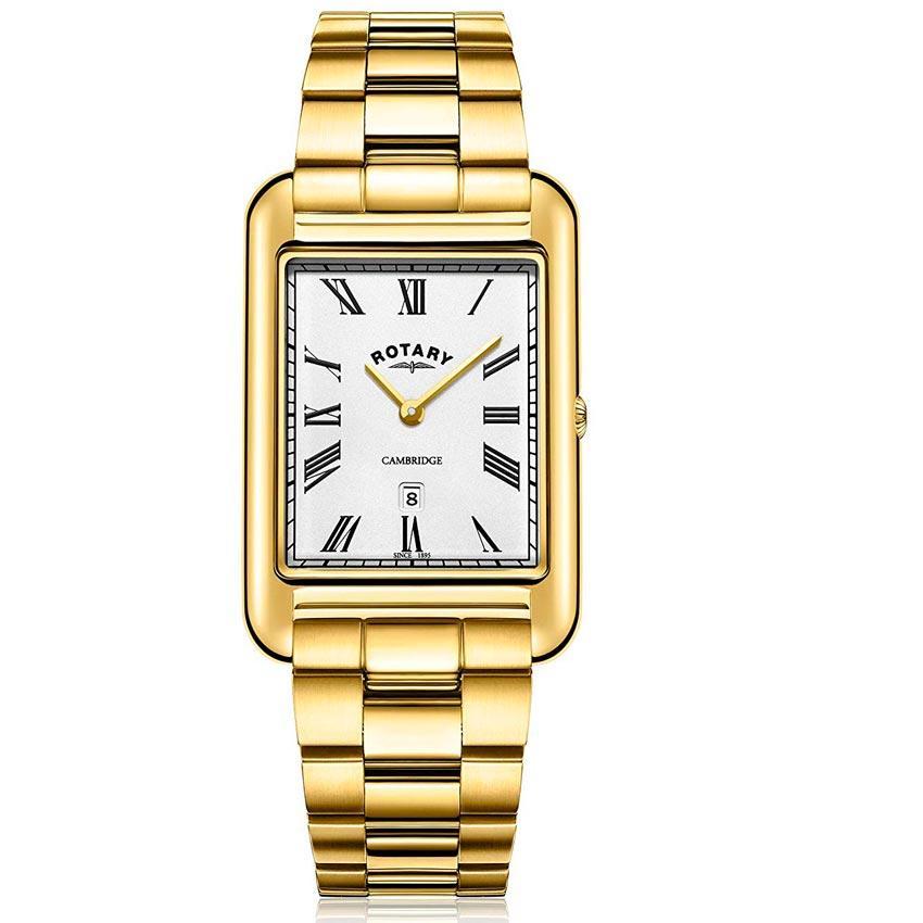 Rotary GB05283/01 Men's Cambridge Gold Rectangular Case Watch
