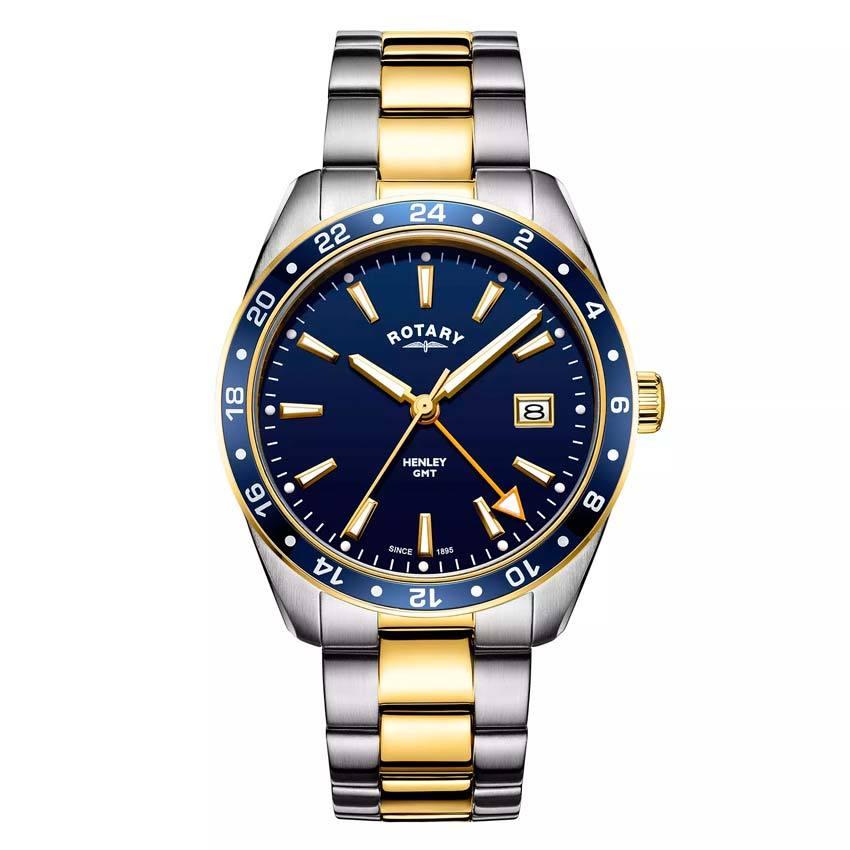 Rotary GB05296/05 Men's Henley GMT Two Tone Bracelet Medium Watch