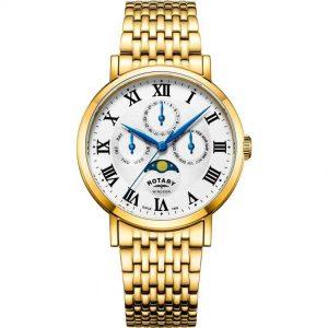 Rotary GB05328/01 Men's Windsor Gold Moonphase Medium Watch