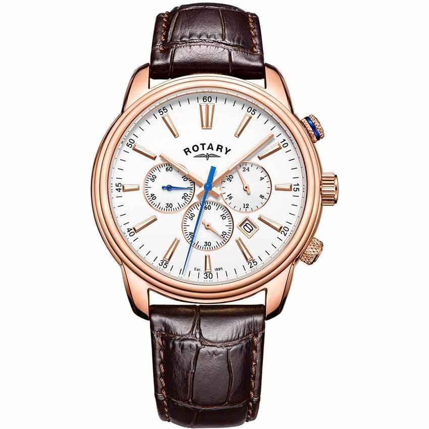 Rotary GS05084/06 Men's Monaco Chronograph Leather Watch