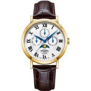 Rotary GS05328/01 Men's Windsor Gold Case Multifunction Medium Watch