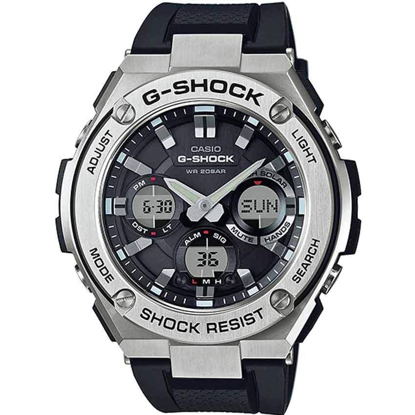 Casio Gent's GST-S110-1ADR G-Steel Shock Resistant Black Resin Large Watch