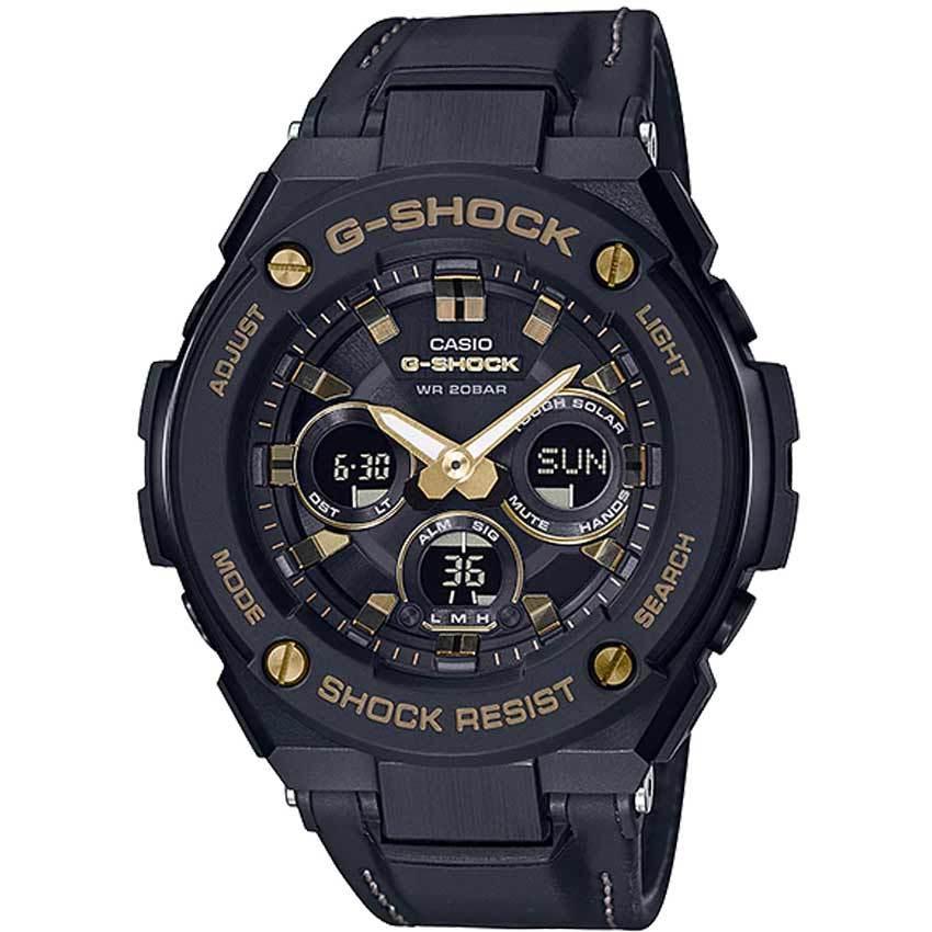 Casio Gent's GST-S300GL-1ADR G-Shock Solar Powered Tough Leather Watch