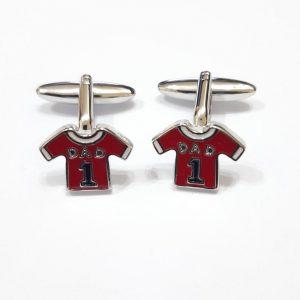 Harvey Makin HM1885 Red Shirt 'Dad' Pair Cufflinks