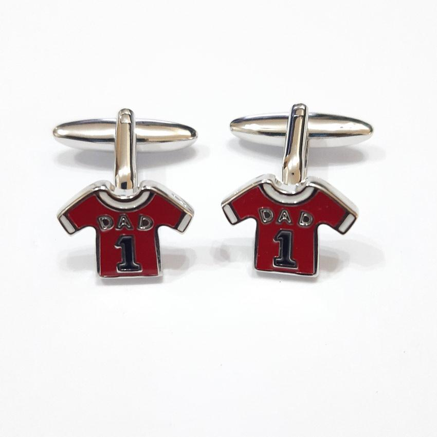 Harvey Makin HM1885 Red Shirt 'Dad' Pair Cufflinks