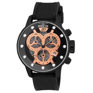 Invicta  19625 Men's S1 Rally Quartz Multifunction Black, Rose Gold Dial Large Watch