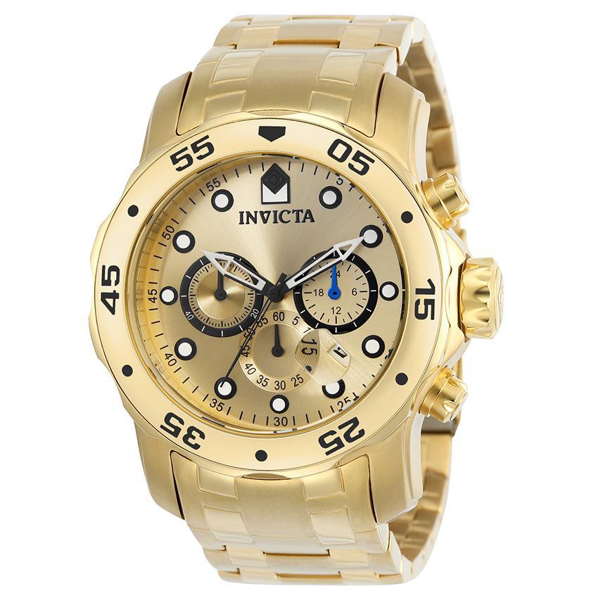 Invicta 21924 Men's Pro Diver Quartz Multifunction Gold Dial Watch