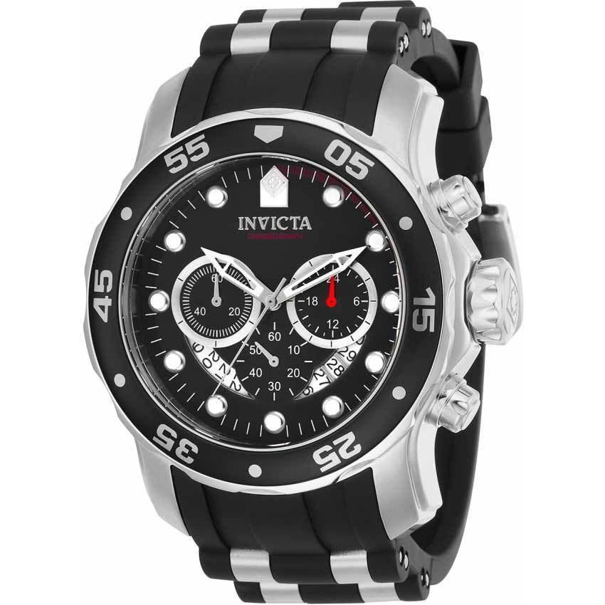Invicta 21927 Men's Pro Diver Quartz Multifunction Black Dial Large Watch