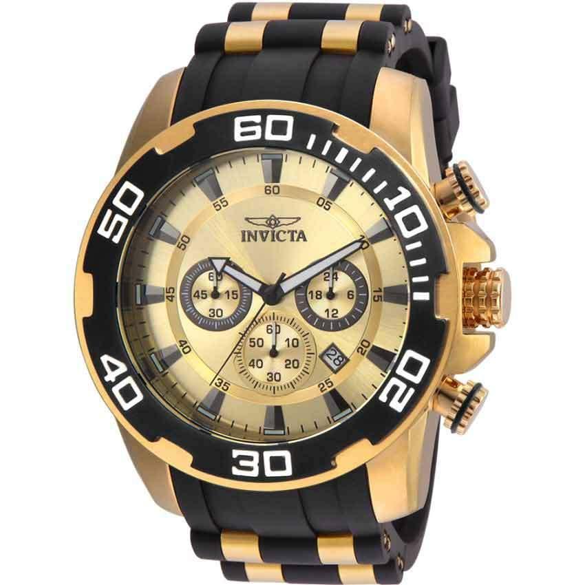 Invicta 22346 Men's Pro Diver Quartz Chronograph Gold Dial Large Watch
