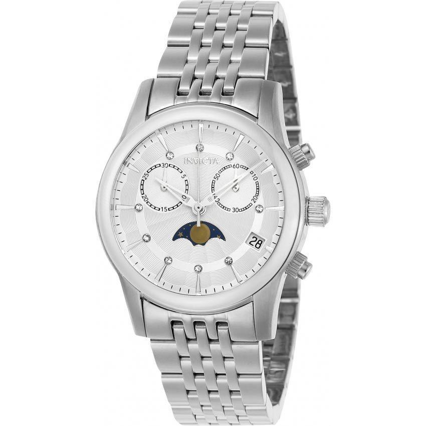 Invicta 22499 Women's Angel Quartz Multifunction Silver Dial Watch