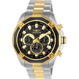 Invicta 22806 Men's Aviator Quartz Chronograph Black Dial Watch