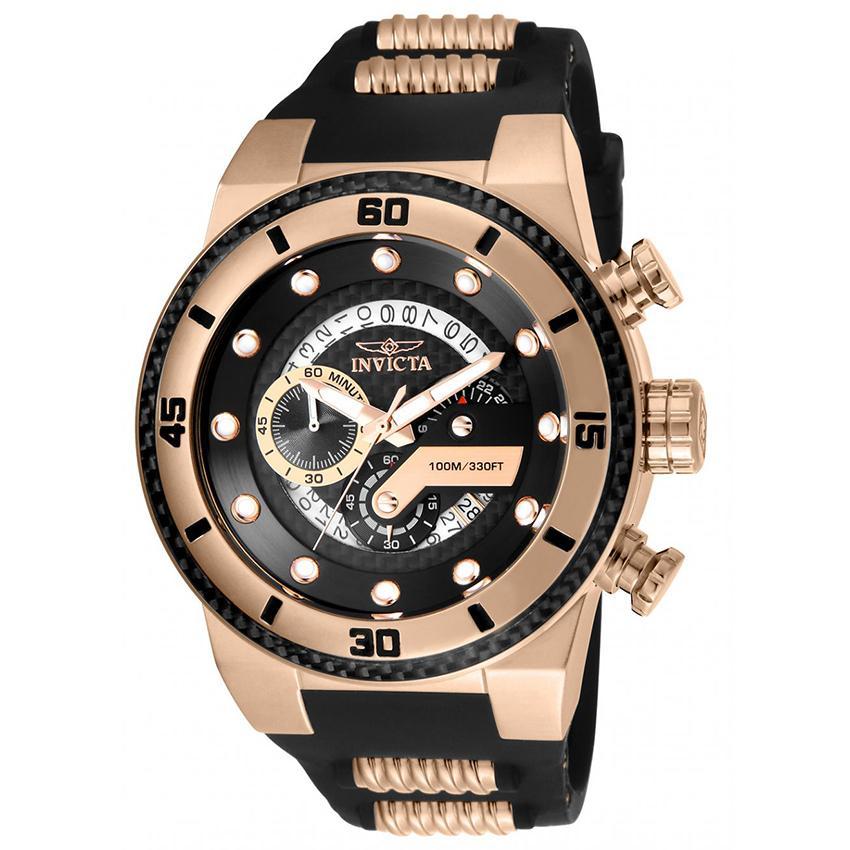Invicta 24226 Men's S1 Rally Quartz Multifunction Black Dial Large Watch