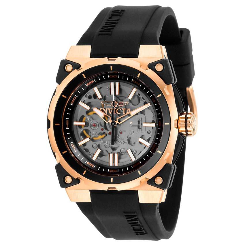 Invicta 27337 Men's S1 Rally Automatic Rose Gold Case Transparent Dial Watch