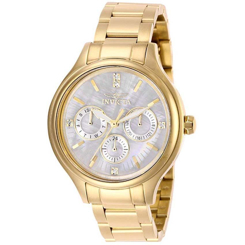 Invicta 28654 Women's Angel Quartz 3 Hand White Dial Watch