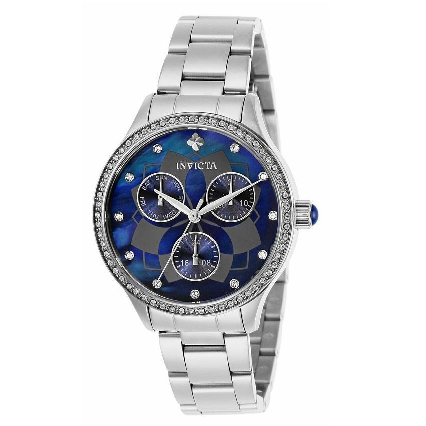 Invicta 29091 Women's Wildflower Quartz 3 Hand Blue Dial Watch