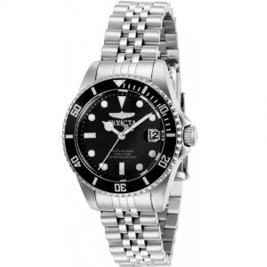 Invicta 29186 Women's Pro Diver Stainless Steel Black Dial Watch