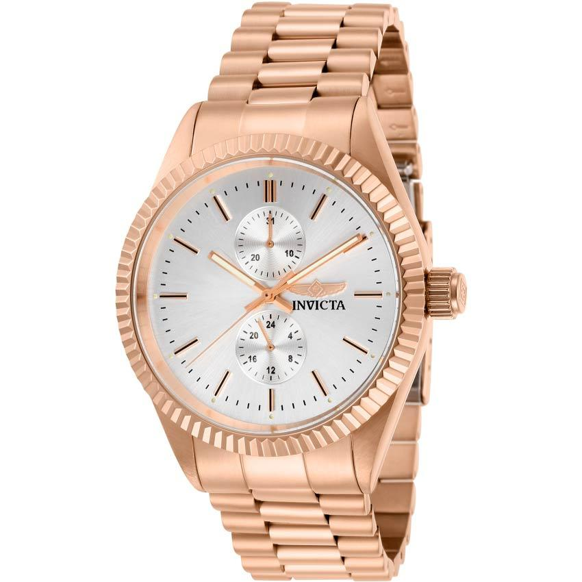 Invicta 29433 Men's Specialty Silver Dial Rose Gold Multifunction Watch