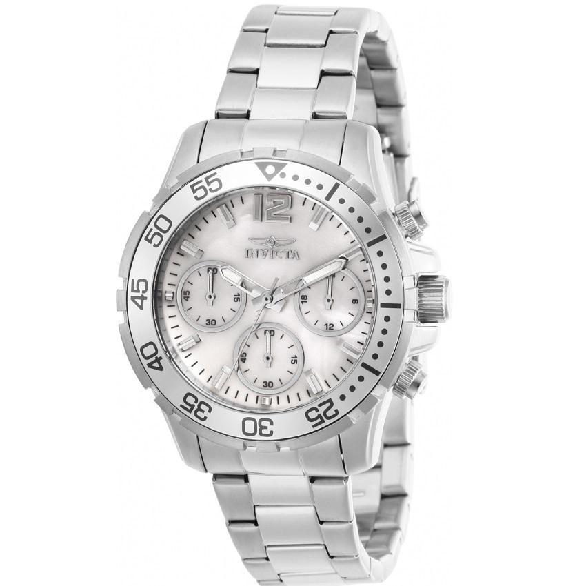 Invicta 29455 Women's Pro Diver Quartz Chronograph White Dial Watch