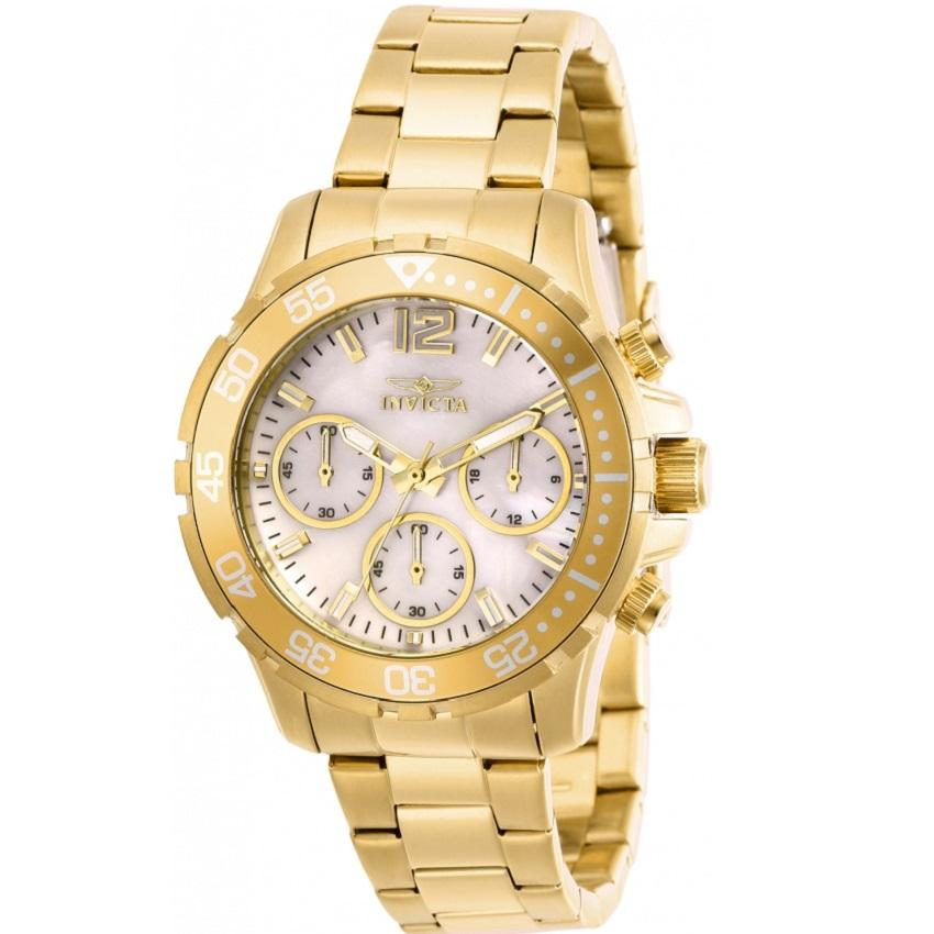 Invicta 29456 Women's Pro Diver Chronograph Mother of Pearl Dial Watch