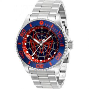 Invicta 29683 Men's Marvel Spiderman Quartz 3 Hand Blue Dial Watch