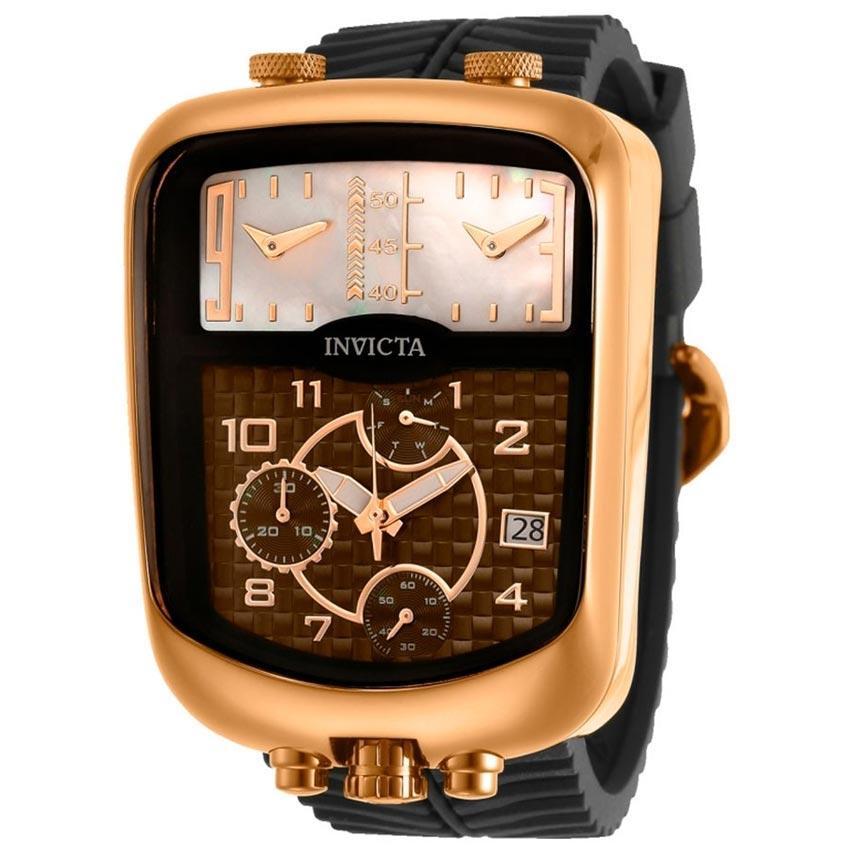 Invicta 29706 Men's S1 Rally Quartz Chronograph Brown, White Dial Watch