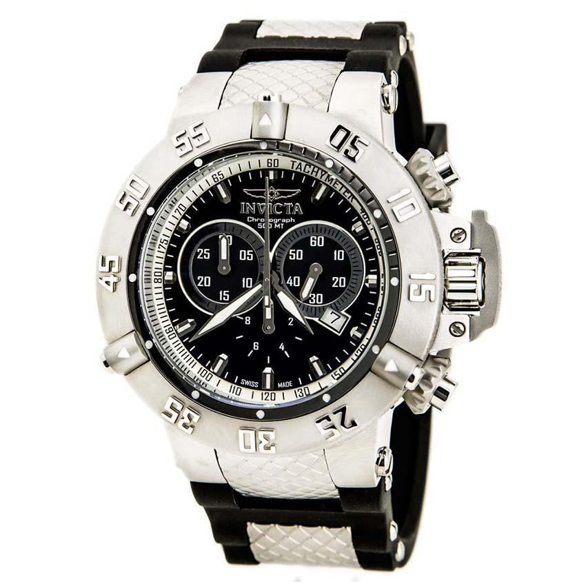 Invicta 5511 Men's Subaqua Quartz Chronograph Black Dial Large Watch