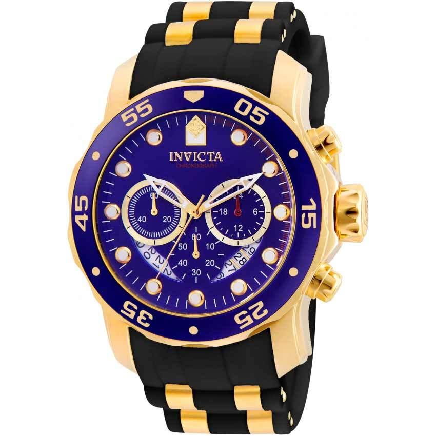 Invicta 6983 Men Pro Diver Chronograph Blue Dial Black Polyurethane Watch