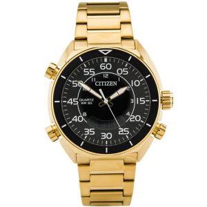 Citizen JM5472-52E Men's Digital Analog Chronograph Black Dial Watch
