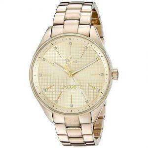 Lacoste 2000898 Women's Philadelphia Analog Quartz Yellow Gold Watch