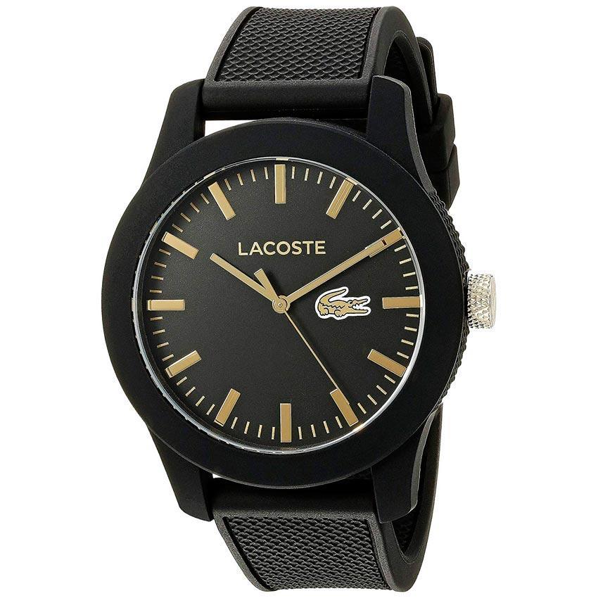 Lacoste 2010818 Men's Lacoste.12.12 Quartz Analog  Black Watch