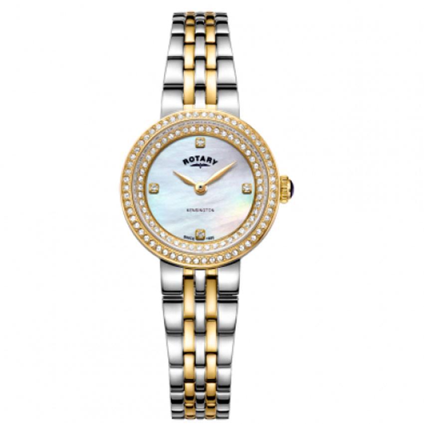 Rotary LB05371/41 Women's Kensington Two Tone MOP Crystal Set Small Watch