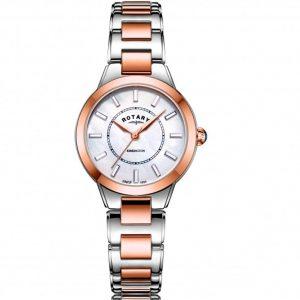 Rotary LB05377/41 Women's Kensington Two Tone White MOP Dial Medium Watch